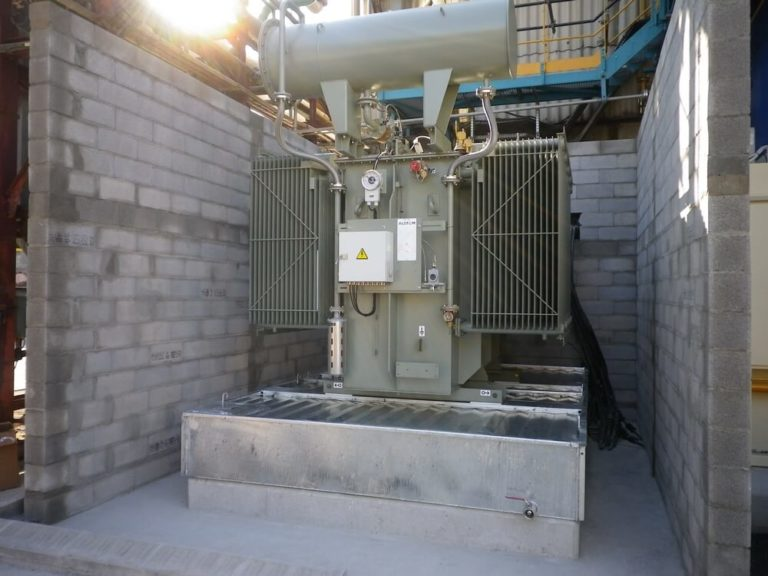 BAF - Fire suppression containment bunds for electrical transformers