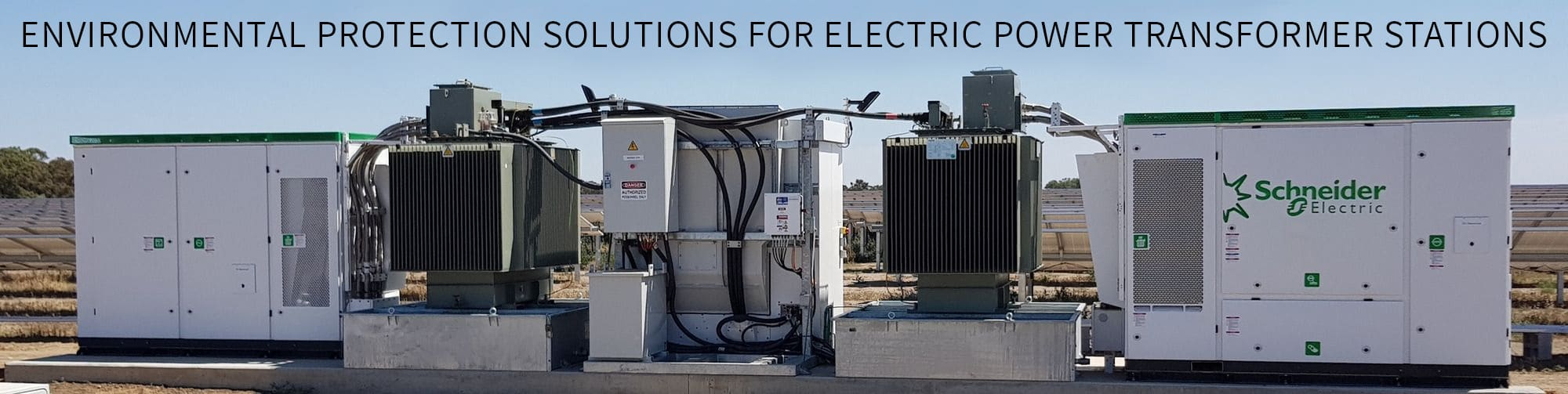 Environmental protection solutions for electric power transformer stations