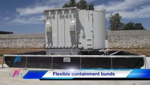transformer in flexible containment bunds